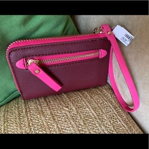 Pink and Wine Charming Charlie Wristlet